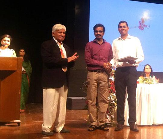 Winning Award Sunil Mahajan